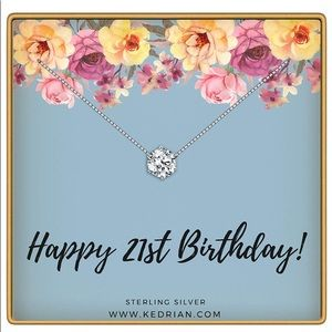 NWT 21st Birthday Necklace, 925 Sterling Silver